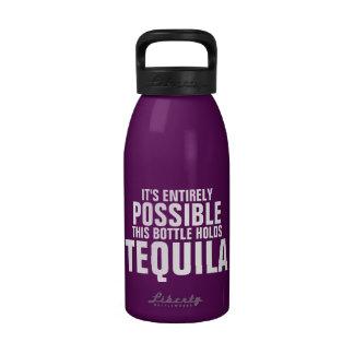 Es posible esto es botella de agua del Tequila