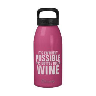 Es posible esto es botella de agua del vino
