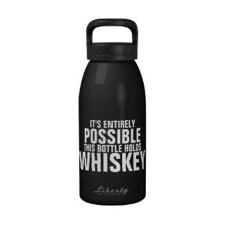 Es posible esto es botella de agua del whisky