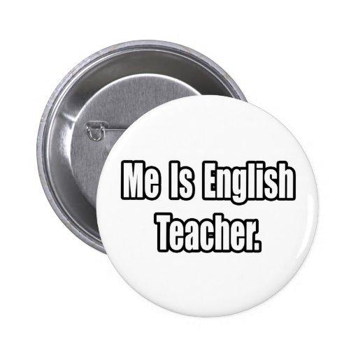Es profesor de inglés pin