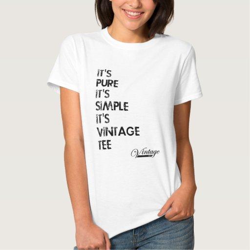 Es puro, él es simple, él es camiseta del vintage