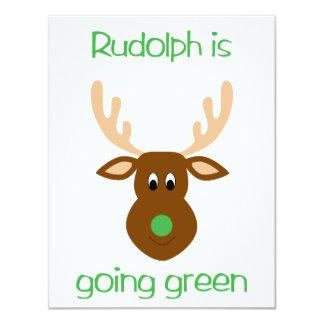 """es regalos y tes verdes el ir del navidad invitación 4.25"""" x 5.5"""""""