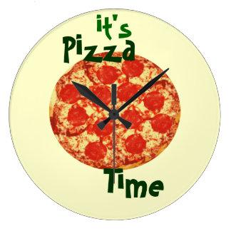 Es reloj de tiempo de la pizza