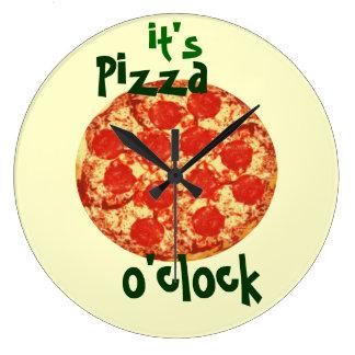Es reloj del en punto de la pizza