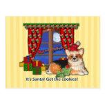 ¡Es Santa! ¡Consiga las galletas! Tarjeta de Postal