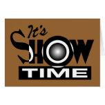 Es Showtime - el decir divertido americano del hum Tarjeta