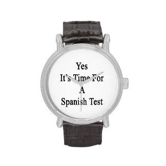 Es sí hora para una prueba española reloj