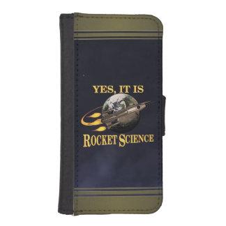 Es sí ingeniería espacial funda tipo billetera para iPhone 5