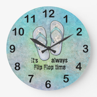 Es siempre tiempo del flip-flop reloj redondo grande