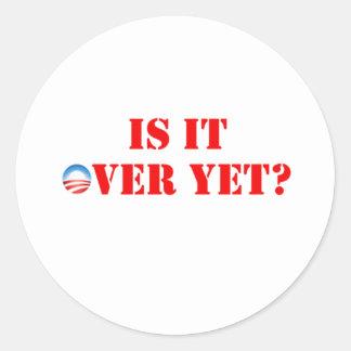 Es sobre con todo Anti-Obama Pegatina Redonda