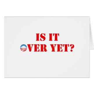 Es sobre con todo Anti-Obama Tarjeta