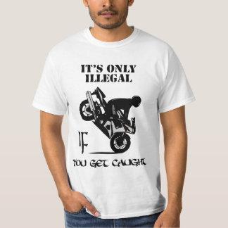 Es solamente ilegal SI usted consigue cogido Playera