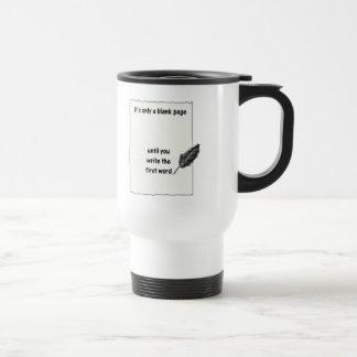 Es solamente una página en blanco… taza térmica