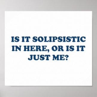 ¿Es Solipsistic o es apenas yo? Póster