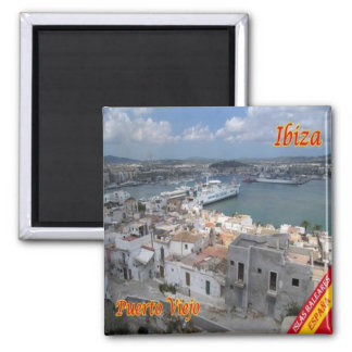 ES - Spain - Eivissa - Old Town Harbour Magnet