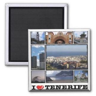 ES - Spain - Tenerife Santa Cruz I Love - Collage Magnet