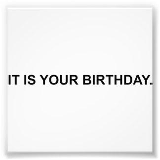 Es su cumpleaños cojinete