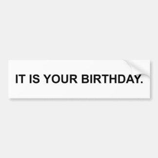 Es su cumpleaños pegatina para auto