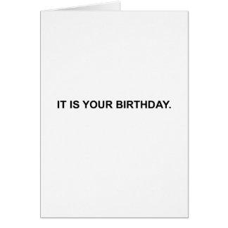 Es su cumpleaños.  Tarjeta de nota