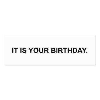 Es su cumpleaños.  Tarjeta de visita