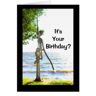 ¿Es su cumpleaños? ¡Usted debe ser así que bombeó! Tarjeta De Felicitación