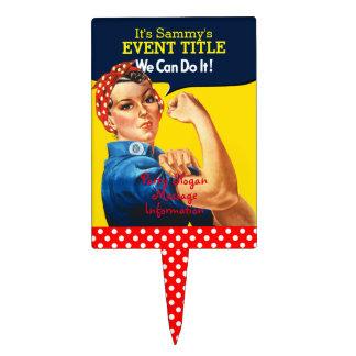 Es su fuente personalizada del fiesta de Rosie Palillos De Tarta