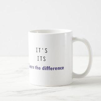 Es su gramática taza básica blanca