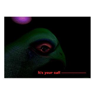 Es su tarjeta de visita de la llamada