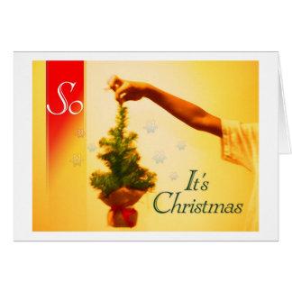 es tan navidad tarjeta de felicitación