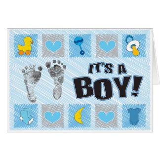 Es tarjeta de felicitación del muchacho de A