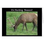 Es tarjeta de los alces de la temporada de caza