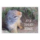 Es tarjeta del día de ese Groundhog feliz del vez