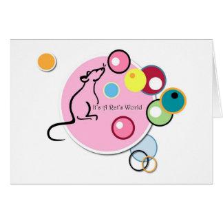 Es tarjeta del mundo de una rata