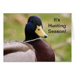Es tarjeta del pato de la temporada de caza