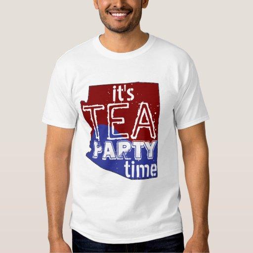 Es tiempo Arizona de la fiesta del té Camisas