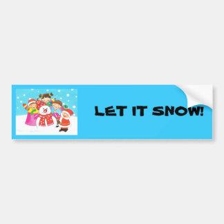 ¡Es tiempo de la nieve! Felices Navidad, niños en  Pegatina Para Auto