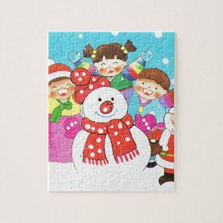 ¡Es tiempo de la nieve! Felices Navidad, niños en  Puzzles