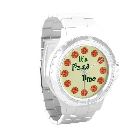 Es tiempo de la pizza divertido relojes