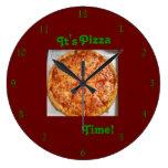 ¡Es tiempo de la pizza! Reloj