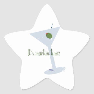 ¡Es tiempo de Martini! Pegatina Forma De Estrella Personalizadas