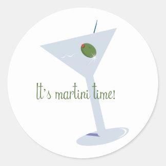 ¡Es tiempo de Martini! Etiquetas Redondas