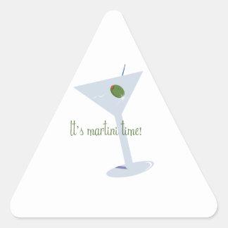¡Es tiempo de Martini! Calcomania De Triangulo Personalizadas