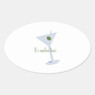 ¡Es tiempo de Martini! Calcomania De Ovaladas