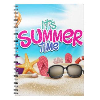 Es tiempo de verano libreta espiral