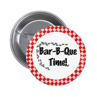 ¡Es tiempo del Bbq! Mantel a cuadros rojo w/Ants Pins