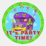¡Es tiempo del fiesta! Pegatinas del cumpleaños co