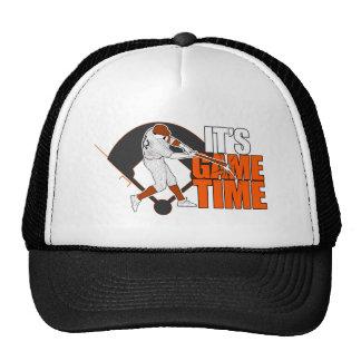 Es tiempo del juego - béisbol (el naranja) gorras