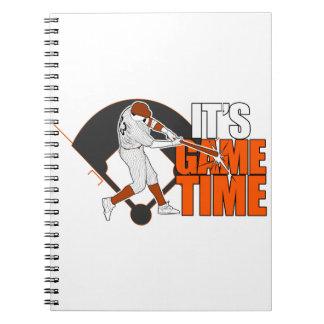Es tiempo del juego - béisbol (el naranja) libreta