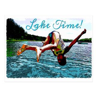 Es tiempo del lago tarjetas postales