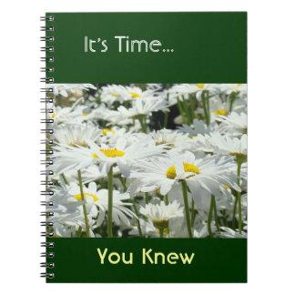 Es tiempo que usted sabía las flores de encargo de libreta